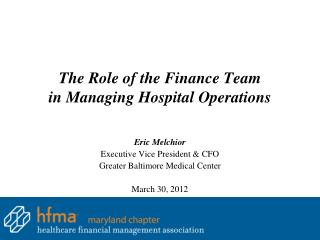 The Role of the Finance Team in Managing Hospital Operations