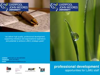 professional development opportunities for LJMU staff