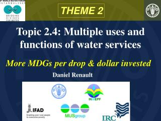 Topic 2.4: Multiple uses and functions of water services