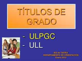 T�TULOS DE GRADO