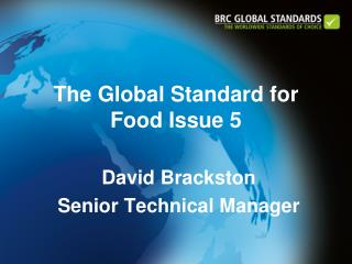 The Global Standard for Food Issue 5