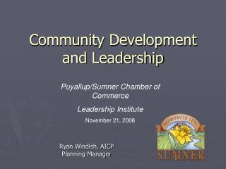 Community Development and Leadership