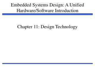 Chapter 11: Design Technology