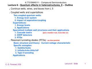 Quantum heterostructures - coupled quantum wells