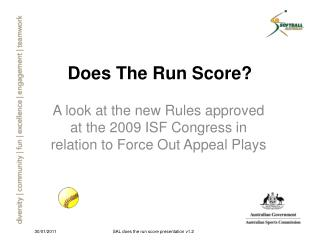 Does The Run Score?