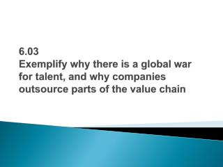 The global talent war: