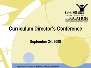 Curriculum Director's Conference