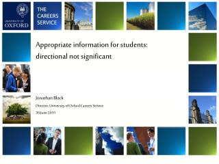 Appropriate information for students:  directional not significant