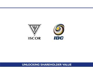 Agreement between Iscor and IDC