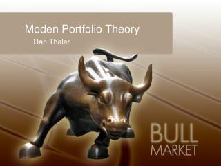 Moden Portfolio Theory