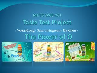 MKTG 3000-001 Taste Test Project