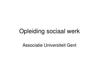 Opleiding sociaal werk
