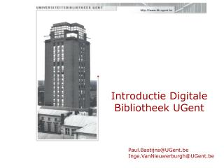 Introductie Digitale Bibliotheek UGent