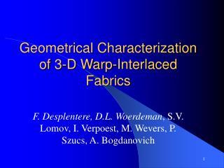 Geometrical Characterization of 3-D Warp-Interlaced Fabrics