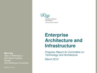 Enterprise Architecture and Infrastructure