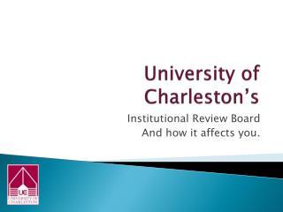 University of Charleston's