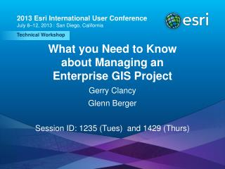 What you Need to Know about Managing an Enterprise GIS Project