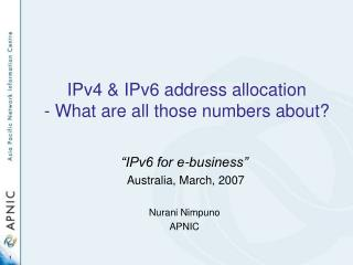 IPv4 & IPv6 address allocation - What are all those numbers about?