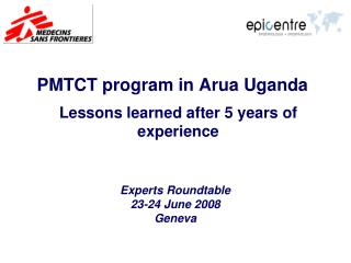 PMTCT program in Arua Uganda
