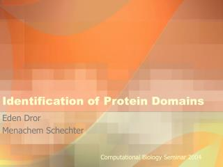 Identification of Protein Domains