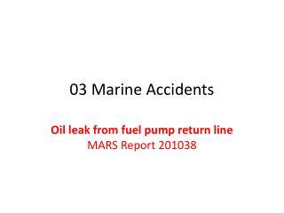 03 Marine Accidents