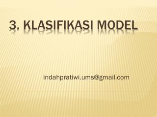 3. Klasifikasi Model