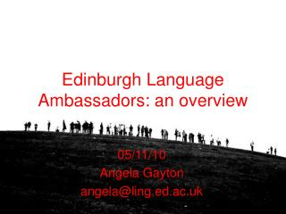 Edinburgh Language Ambassadors: an overview