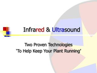 Infra red  &  Ultra sound