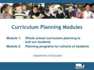 Curriculum Planning Modules