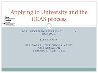Applying to University and the UCAS process