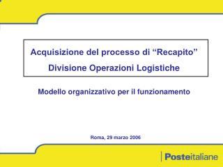 Modello organizzativo per il funzionamento