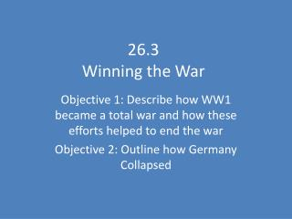 26.3  Winning the War