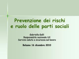 Prevenzione dei rischi e ruolo delle parti sociali