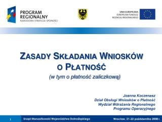 Wrocław, 21-22 października 2008 r.