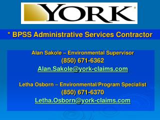 BPSS Administrative Services Contractor
