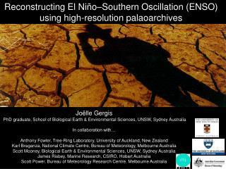 Reconstructing El Ni o Southern Oscillation ENSO using high-resolution palaoarchives