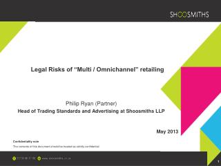 "Legal Risks of ""Multi / Omnichannel"" retailing"