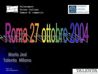 Unioncamere Unione italiana Camere di commercio