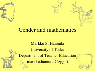 Gender and mathematics