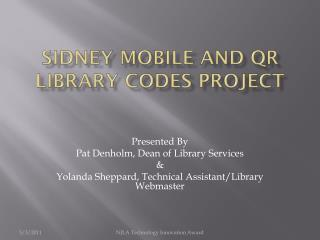 Sidney Mobile and QR Library Codes Project