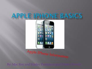 Apple IPhone Basics