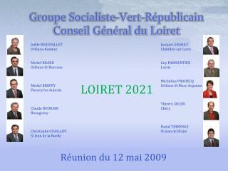 Groupe Socialiste-Vert-Républicain Conseil Général du Loiret
