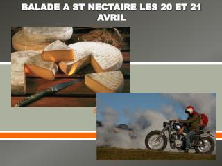BALADE A ST NECTAIRE LES 20 ET 21 AVRIL