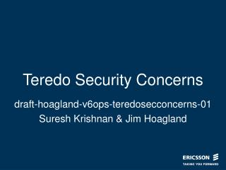 Teredo Security Concerns