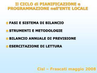 Cisl – Frascati maggio 2008