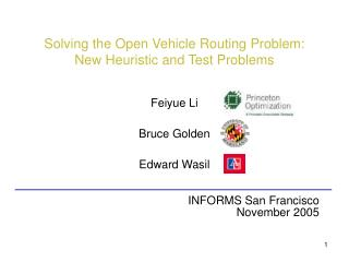 Solving the Open Vehicle Routing Problem:  New Heuristic and Test Problems
