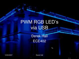 PWM RGB LED s via USB
