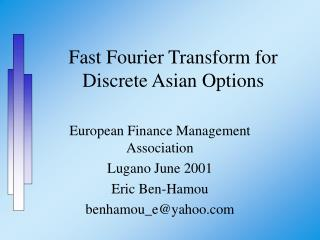 Fast Fourier Transform for Discrete Asian Options