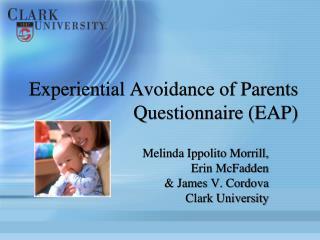 Experiential Avoidance of Parents Questionnaire (EAP)