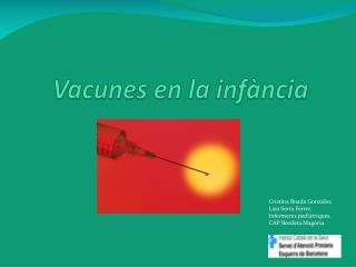Vacunes en la  infància